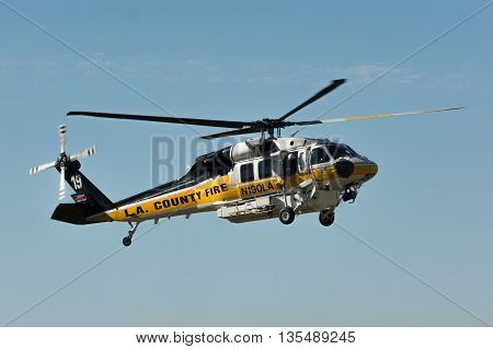 Sikorsky S-70A Firehawk Helicopter During Los Angeles American Heroes Air Show
