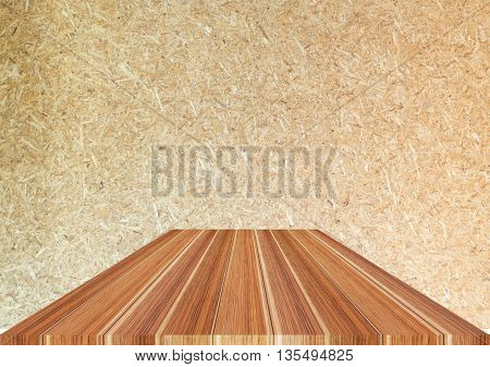 Dark brown wooden top on wood background stock photo