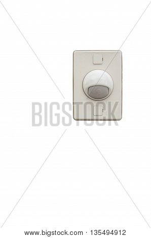 Old doorbell isolated on a white background