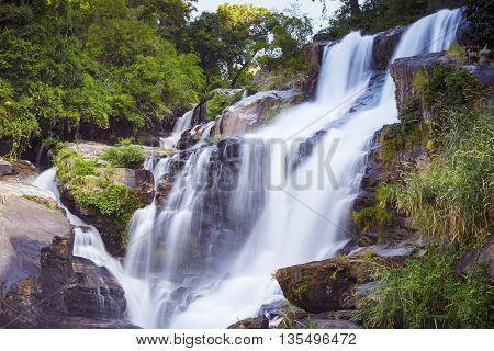 Mae Klang waterfall in doi-inthanon Chiangmai Thailand
