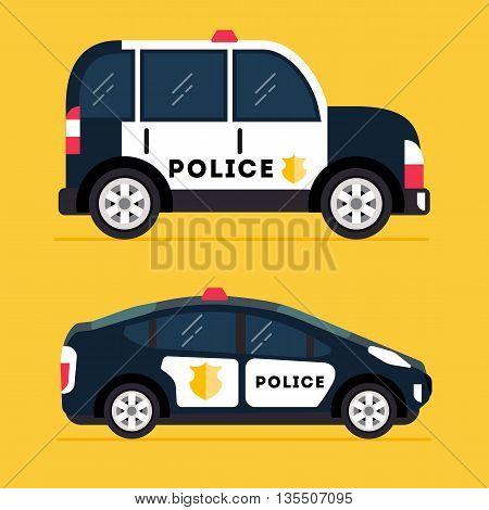 Vector Modern Police Car