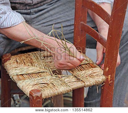 Hands Of An Elderly Craftsman