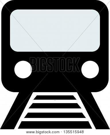 Train outline vector bullet commuter express fast