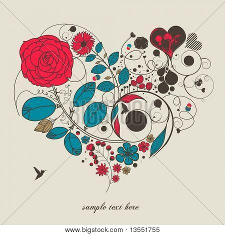vintage flower -love