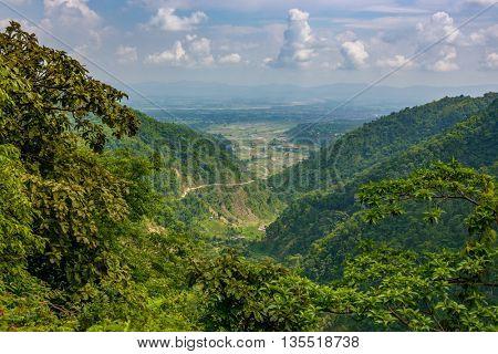 View of the Dang valley in Inner Terai, Nepal