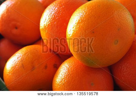 Set of tangerines with lateral ilumination for a more contrast