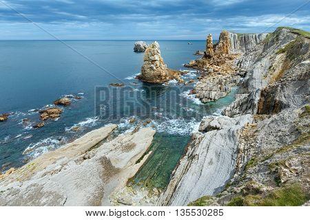 Atlantic Ocean Coastline Near Portio Beach