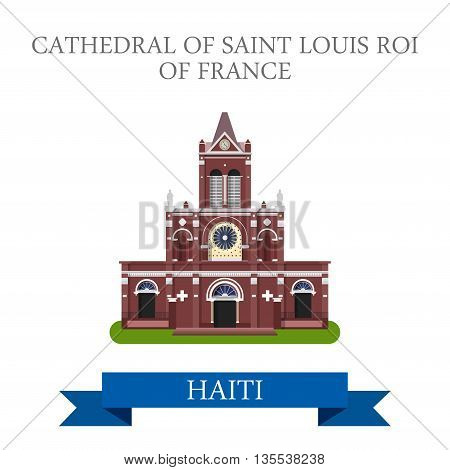 Cathedral of Saint Louis Roi of France in Haiti illustration