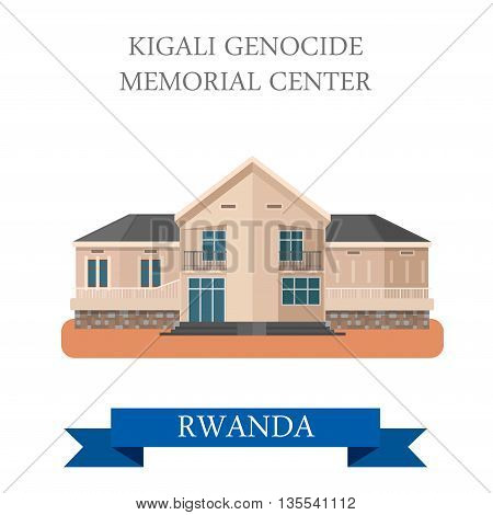 Kigali Genocide Memorial Centre in Rwanda vector illustration