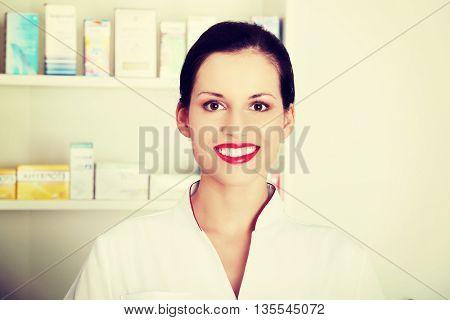 Druggist woman.
