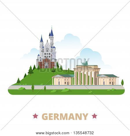 Germany  country design template Flat cartoon style web vector