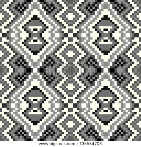 pixel seamless pattern on a gray background