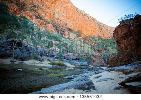 The impressive views of Ormiston Gorge in the West MacDonnell Ranges in Northern Territory, Australia