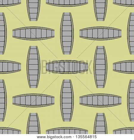 Retro Film Stripes Background Seamless Cinema Pattern