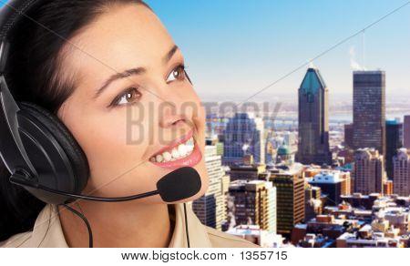 Operator Of A Call Center