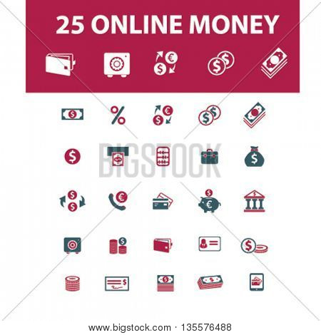 online money icons