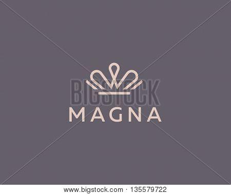 Elegant crown premium logo. Luxury royal king logotype. Monarch symbol