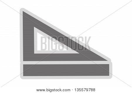 simple flat design of grey ruler and set square vector illustration