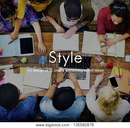 Style Design Trendy Fashionable Trends Chic Fashionista Concept
