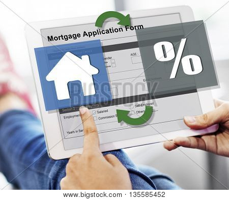 Mortgage Property Credit Loan Purchase Concept