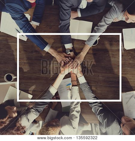Business Formal People Frame Concept
