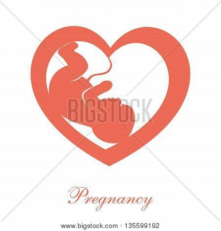Fetus icon isolated on white background. Pregnancy logo. Pregnancy icon. Pregnancy sign.