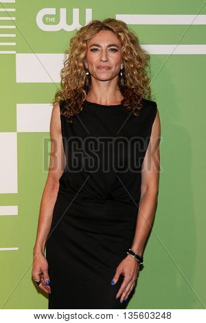 NEW YORK, NY - MAY 14: Actress Claudia Black attends the 2015 CW Network Upfront Presentation at the London Hotel on May 14, 2015 in New York City.