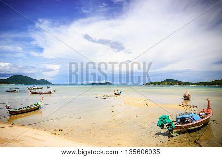 Long-tail boats at Rawai beach, Phuket, southern Thailand