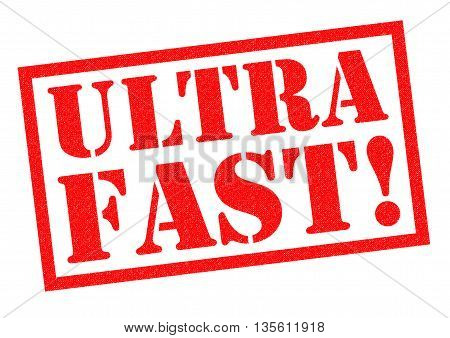 ULTRA FAST! red Rubber Stamp over a white background.
