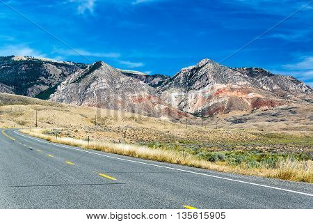 Highway And Bighorn Mountains