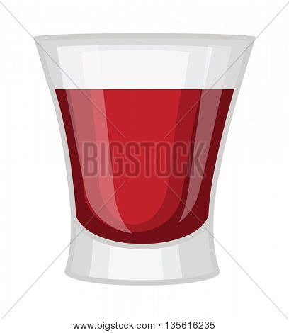 Whisky shot cup vector illustration.