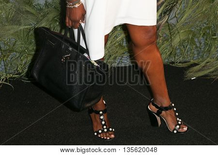 NEW YORK-JUNE 22: June Ambrose fashion details attends the 2016 Coach And Friends Of The High Line Summer Party at The High Line on June 22, 2016 in New York City.