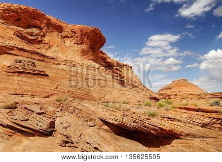 Wild Utah desert orange landscape, west USA