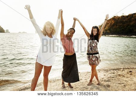 Girl Women Celebration Friendship Leisure Party Concept
