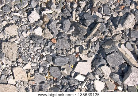 Rubble of Masonry at a Construction Site