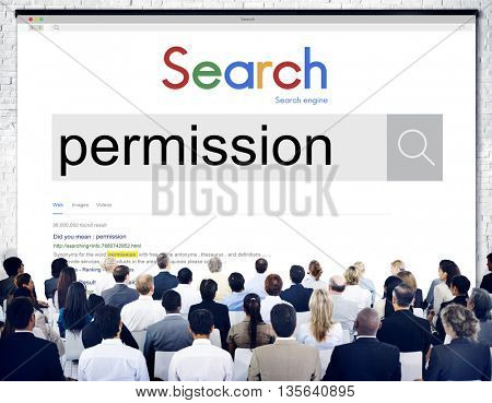 Permission License Authority Approval Consent Concept