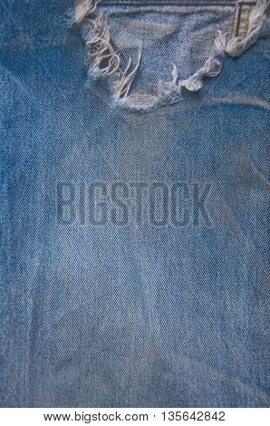 old jean torn background and texture fot design