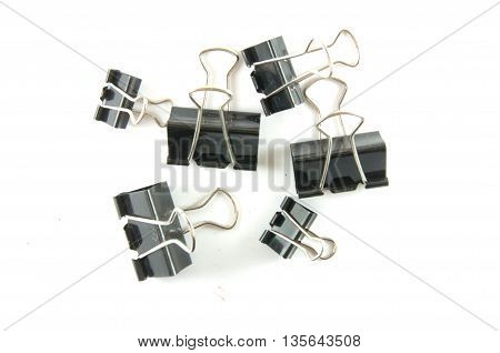 many black clip on a white background isolated