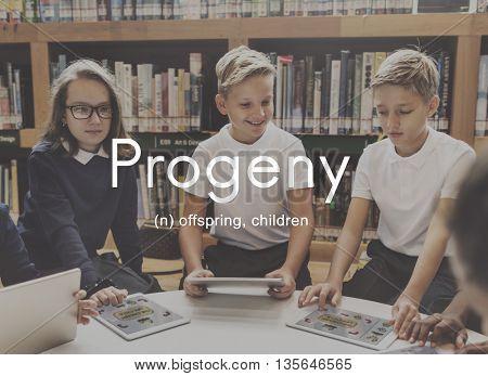 Progeny Children Generation Juvenile Young Kids Concept