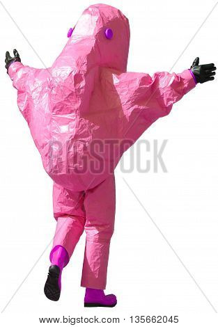 Purple Protective Suit To Manage Hazardous Materials
