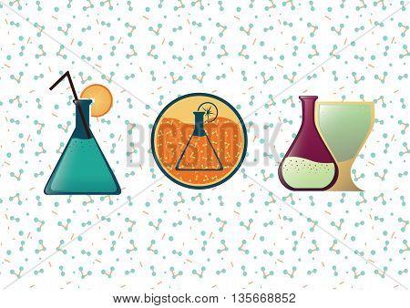 logo molecular cuisine, molecular bar logo, chemical bar