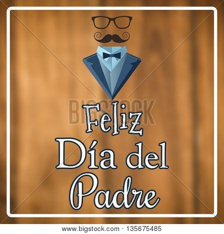 Feliz día del padre against wooden planks background