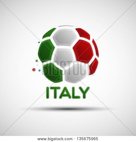 Abstract Italy Soccer Ball