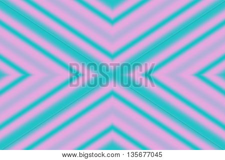 Illustration of a pink and cyan x-pattern