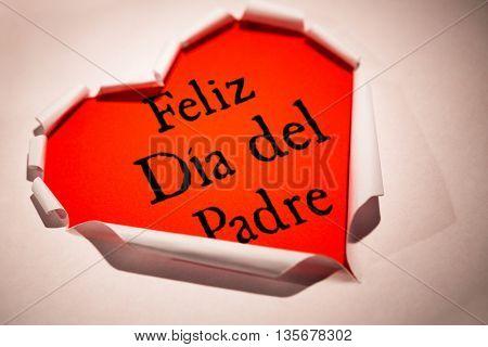 Word Feliz dia del padre against white background with vignette