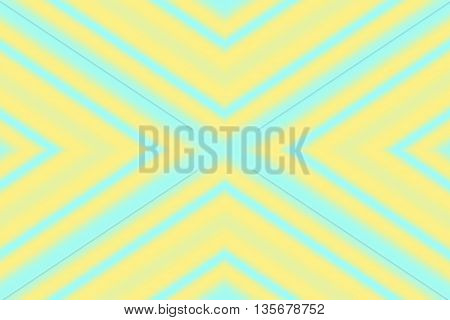 Illustration of an abstract cyan and yellow x-pattern