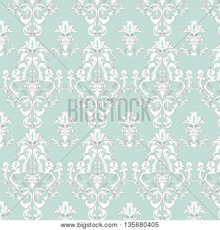 Elegant Royal shinny pattern ornament in blue color. Vector
