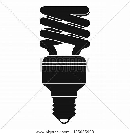 Energy saving bulb icon in simple style isolated on white background