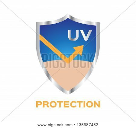 uv protection vector icon , uv logo