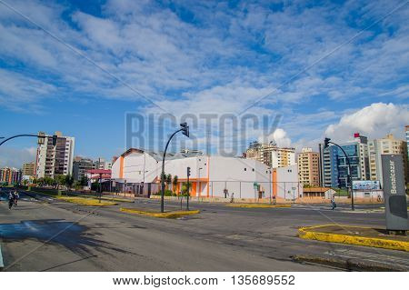 QUITO, ECUADOR - JULY 7, 2015: Benalcazar high school at Quito, important educative center in the north of the city.